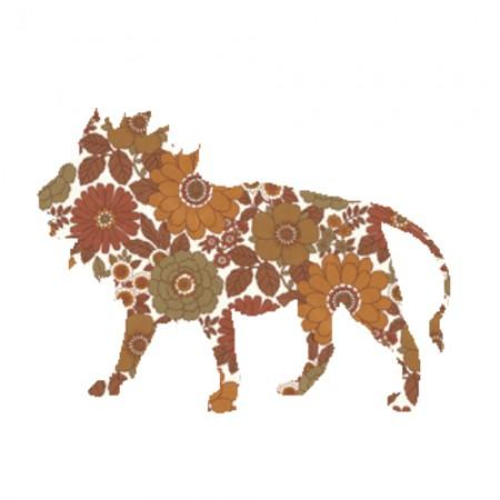 Inke Tapetentier Löwe Ranke dunkelbraun
