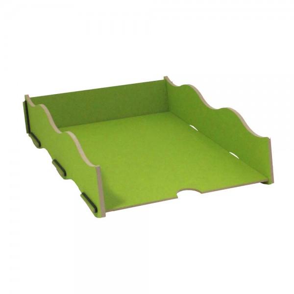 Werkhaus Schreibtisch Ablage Box grün