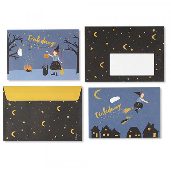 Ava & Yves Einladungskarten Kindergeburtstag Hexe