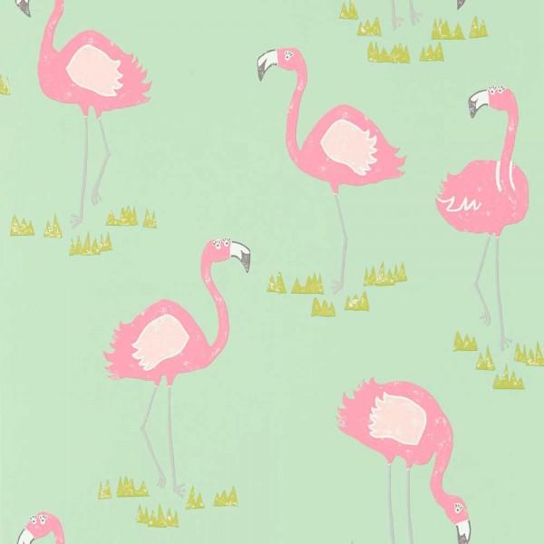 Scion Guess Who Tapete Flamingos pink grün mint