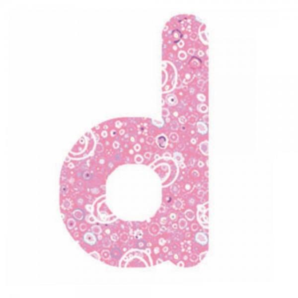 Lilipinso Sticker rosa Buchstabe d