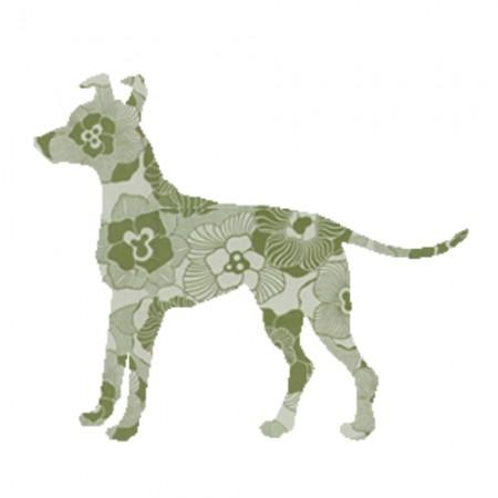 Inke Tapetentier Hund Ranke oliv