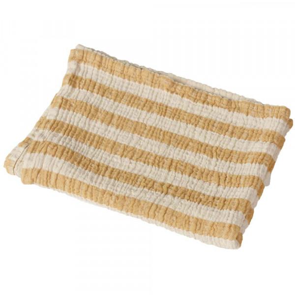Quax Schmusetuch Musselin Streifen senfgelb