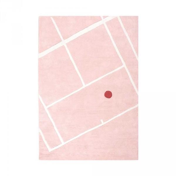 Lilipinso Teppich Tennisplatz eckig rosa