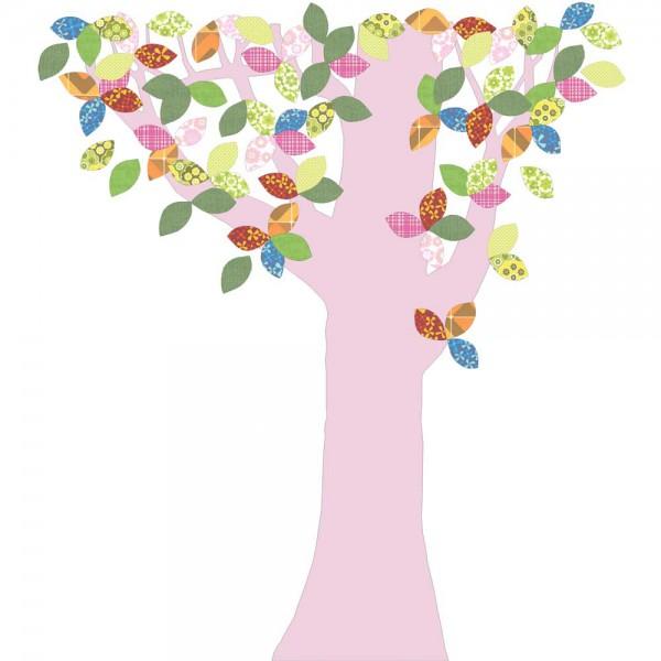Inke Tapetenbaum 1 Stamm rosa Blätter bunt