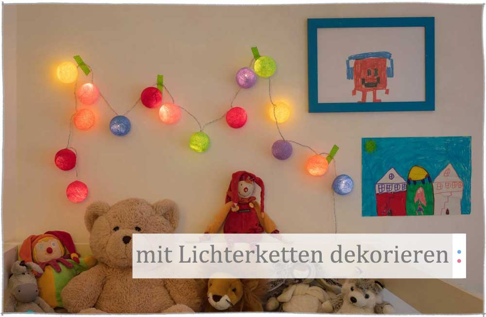 Lichterketten Deko Ideen im Kinderzimmer | kinder räume