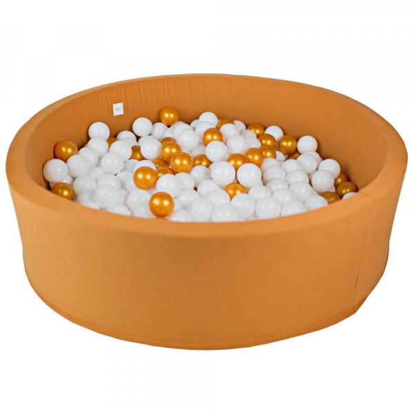 Minibe Bällebad groß ocker incl. 300 Bällen in Wunschfarbe