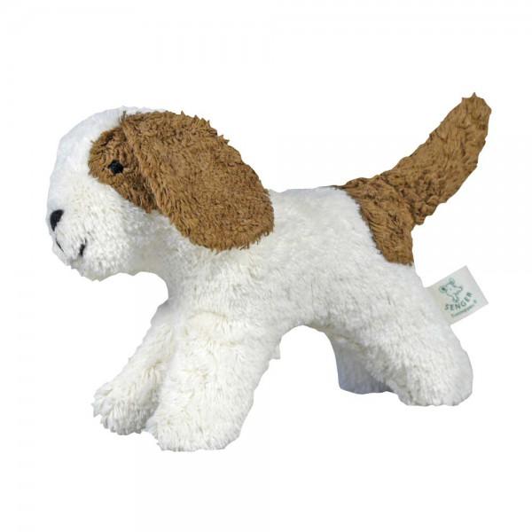 Senger Kuscheltier Tierkind Hund weiß beige