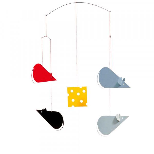 Flensted Mobile Mäuse am Käse schwarz grau