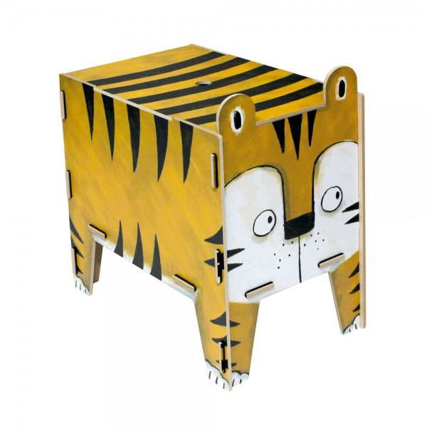 Werkhaus Kinderhocker Vierbeiner Tiger