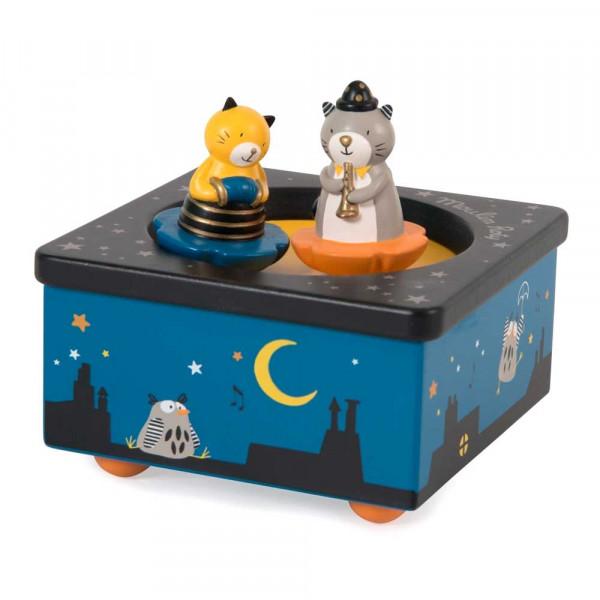 Moulin Roty Spieluhr Musikalische Katzen MDF