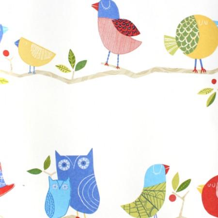 Harlequin Tapete Vögel blau