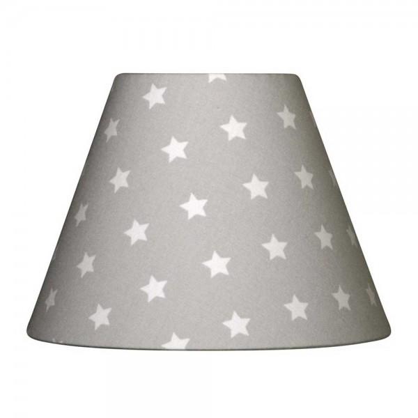 Nordika Lampenschirm grau Sterne weiss C2