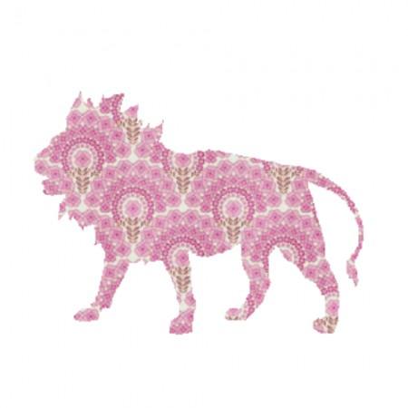 Inke Tapetentier Löwe rosa