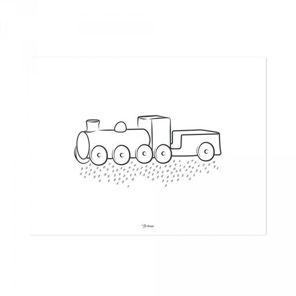 Lilipinso Poster Eisenbahn schwarz auf weiss