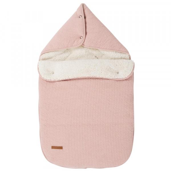 """Little Dutch Fußsack uni rosa """"Pure Pink"""""""