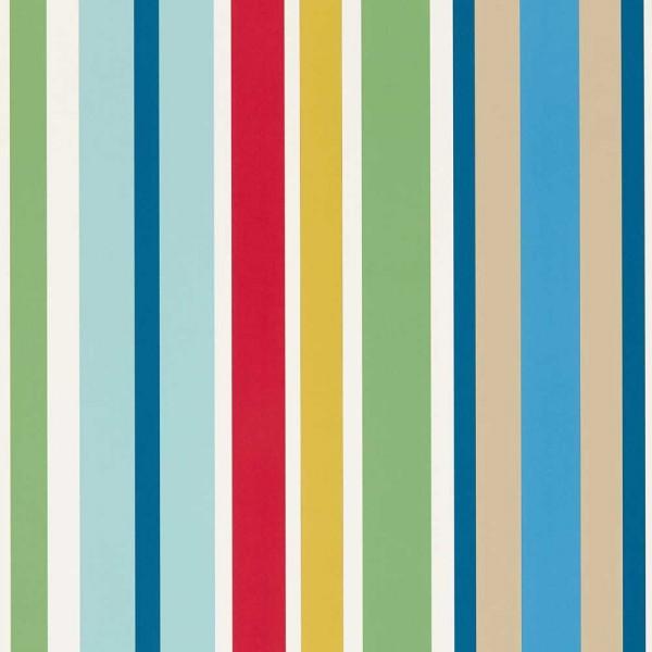 Scion Guess Who Tapete Streifen blau grün rot