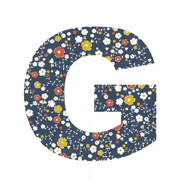 Lilipinso Sticker Buchstabe geblümt G