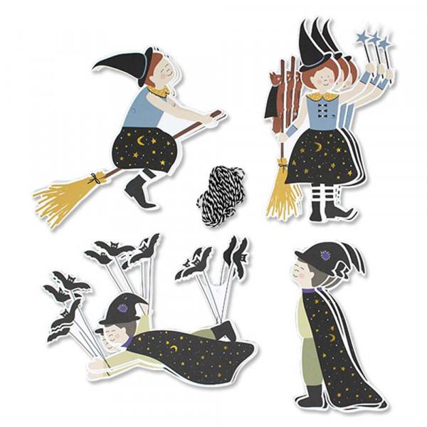 Ava & Yves Partygirlande Hexen & Zauberer