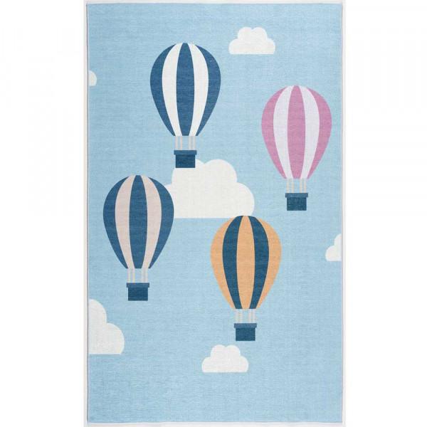 Scandic Living Kinderteppich Luftballons hellblau