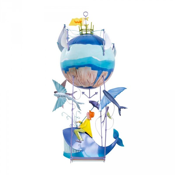 L' Oiseau Bateau Mobile Riesen-Heissluftballon Wal