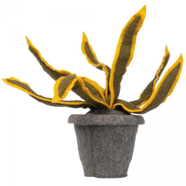 Kidsdepot Deko Pflanze Filz Sanseveria gelb