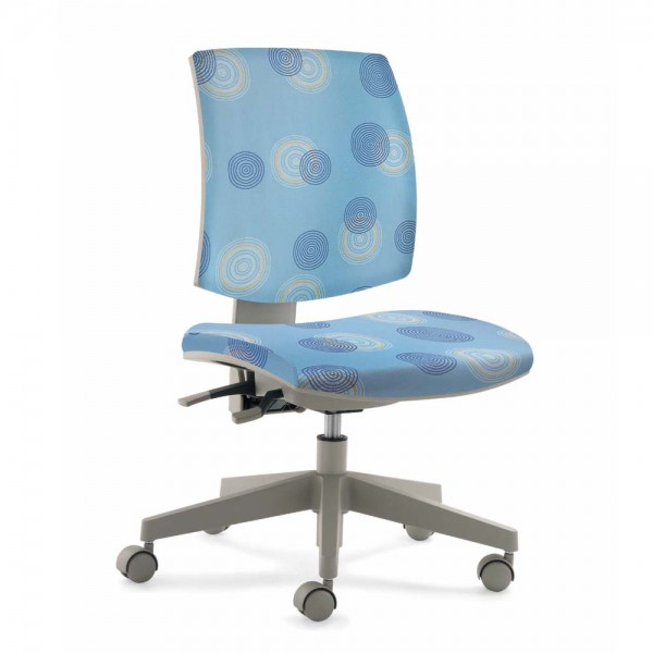Mayer Kinder Bürostuhl flexo blau Kringel