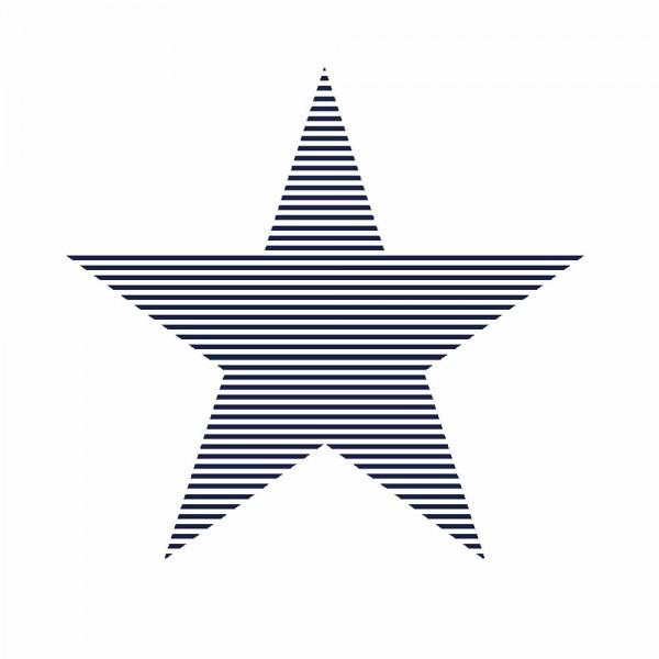 Rasch Textil Everybody Bonjour Tapete gestreifter Stern dunkelblau
