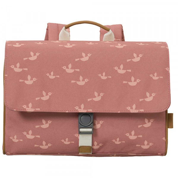 Fresk Schulranzen Vögel pink