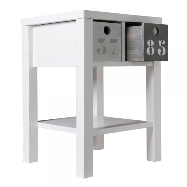 Bopita Basic Wood Nachttisch white wash