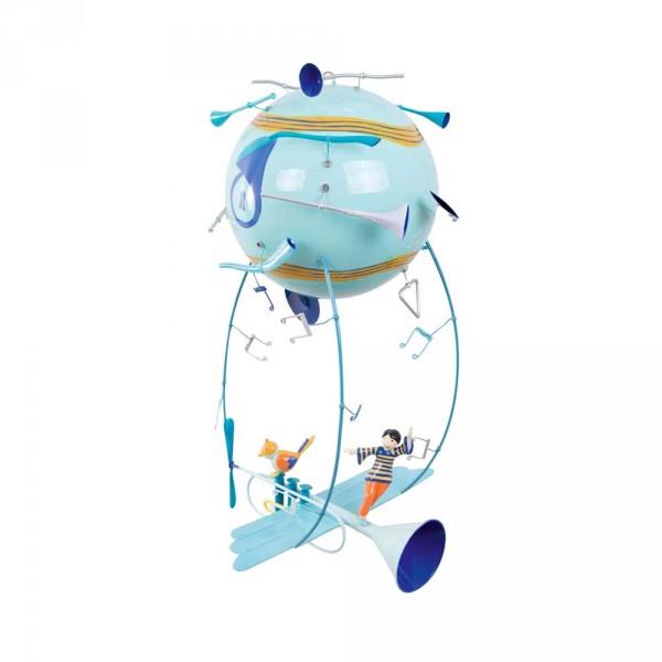 L' Oiseau Bateau Mobile Heissluftballon Schlumpeter Trompete