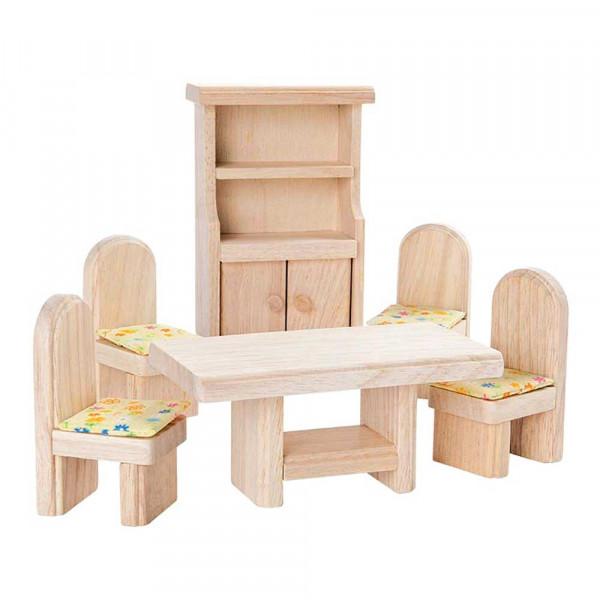 Plan Toys Esszimmer klassisch Zubehör für Puppenhaus