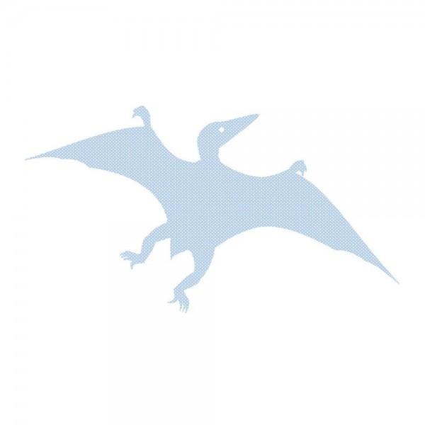 Inke Tapetendino Pterosaurus hellblau Punkte weiss