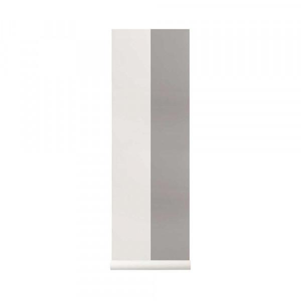 Ferm Living Tapete breite Streifen grau fast weiss
