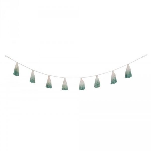 Lorena Canals Pom Pom Girlande Tie Dye grün