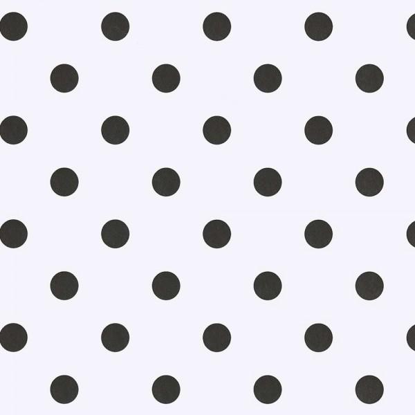 Eijffinger Tout Petit Kindertapete grosse Punkte schwarz