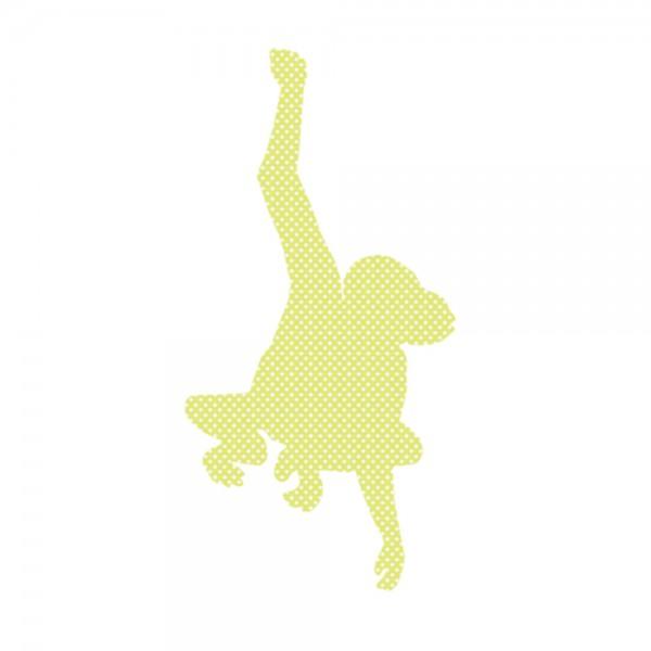 Inke Tapetentier Affe grün Punkte weiss