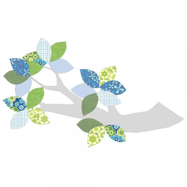 Inke Tapetenast silber grün/blau