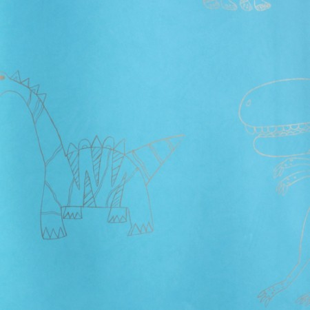 Harlequin Dino Tapete blau gold