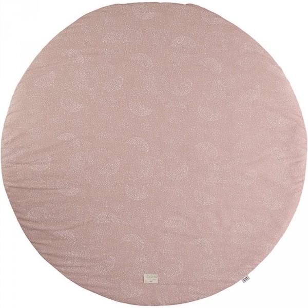"""Nobodinoz Spielmatte """"Full Moon"""" weisse Blasen rosa"""