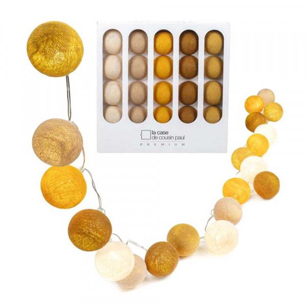 Cousin Paul Lichterkette Neil Premium LED weiss gelb senf