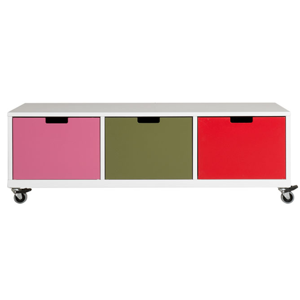 bopita mix match board niedrig niki wei auf rollen bei kinder r ume. Black Bedroom Furniture Sets. Home Design Ideas