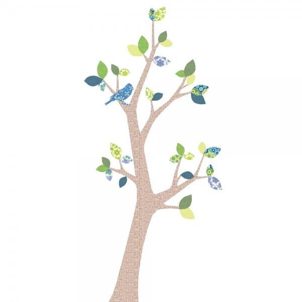 Inke Tapetenbaum 2 Stamm braun Blätter blau grün