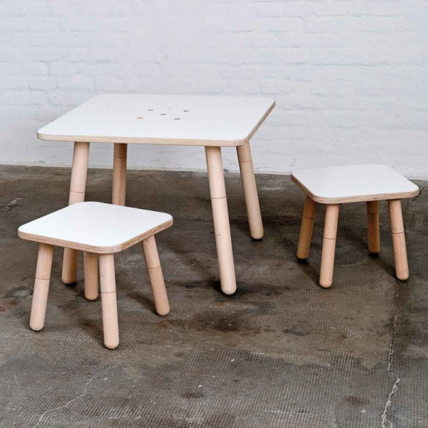 Pure Position Growing Table Tisch 80 x 80 cm weiss