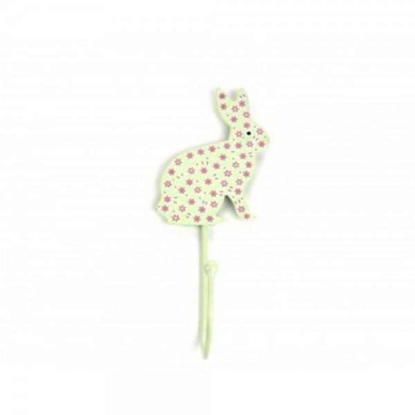 Knaufmanufaktur Kleiderhaken Hase Blumen mint