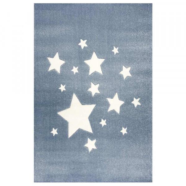 Scandic Living Kinderteppich Sterne blau