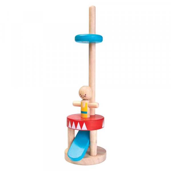 Plan Toys Spielzeug Springender Akrobat Holz