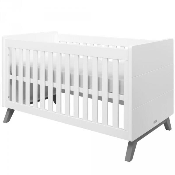 Bopita Levi Babybett Weiß Grau 70 X 10 Umbaubar