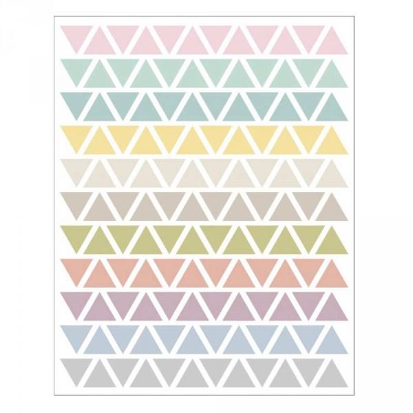 tresxics Wandsticker Dreiecke pastell