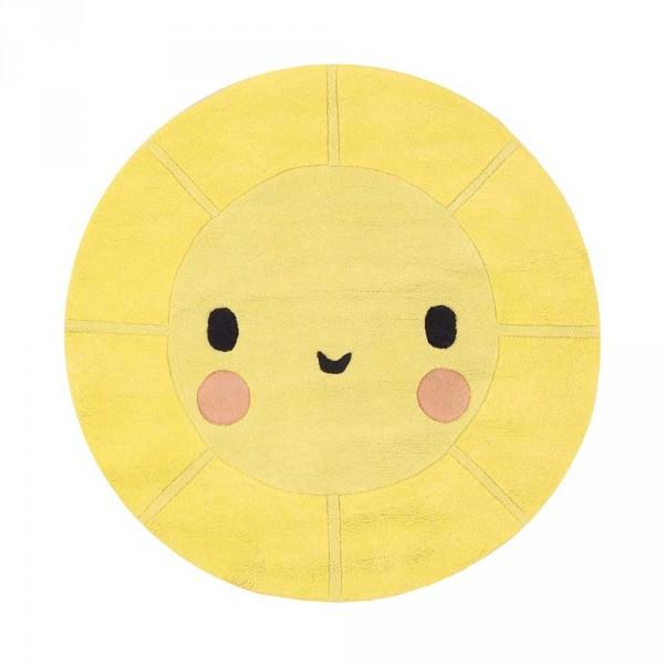Lilipinso Teppich Lachende Sonne rund gelb
